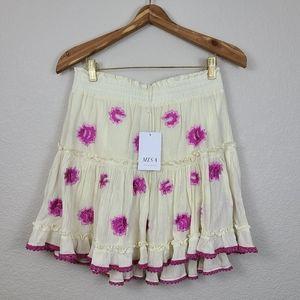 NWT Misa Los Angeles mini ruffle skirt M